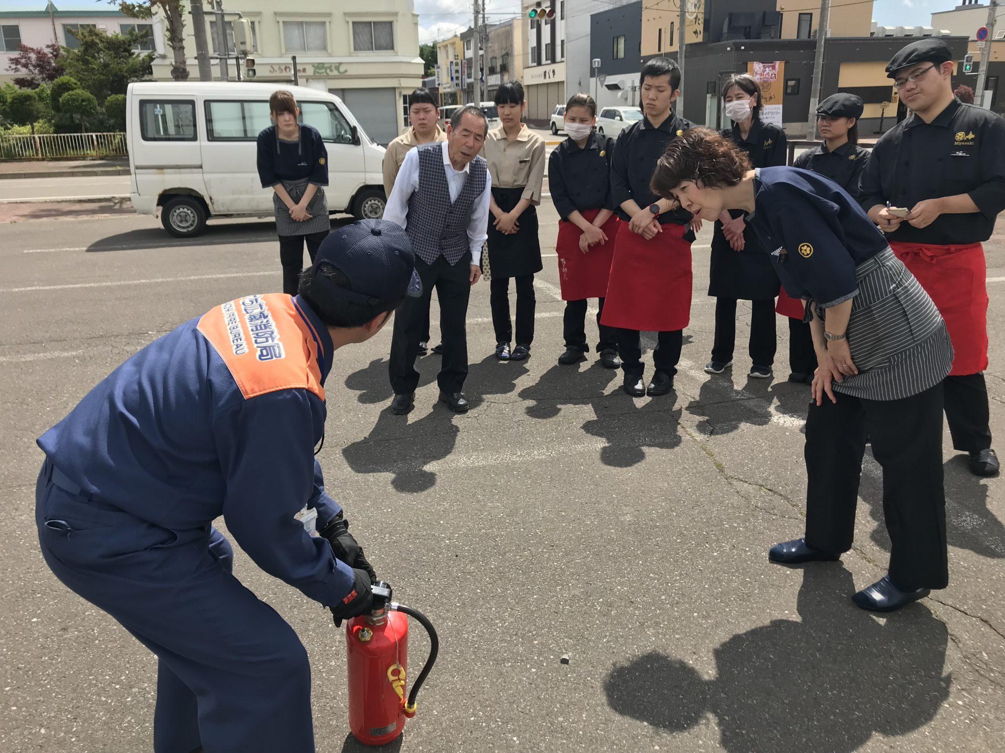 ゆたか消火訓練